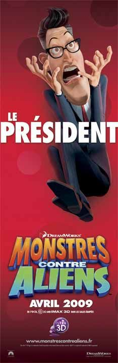 Mostri contro Alieni - Monsters vs Aliens (2009) Le Président