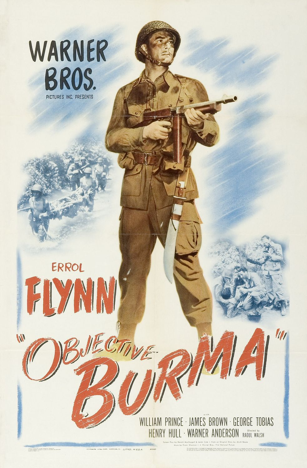 Objective Burma (1945) - war battle film poster 40s