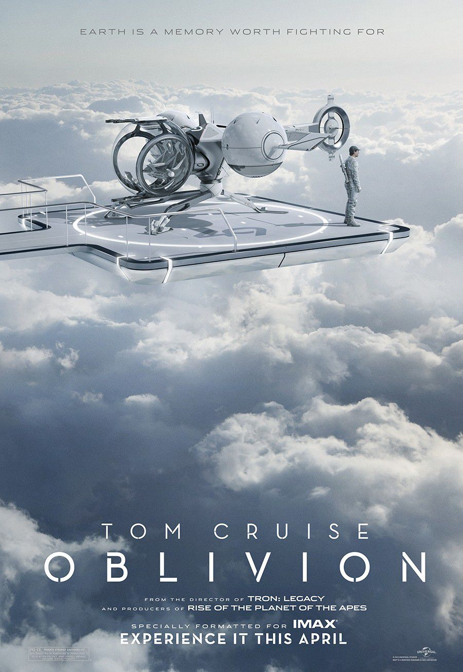 Oblivion (2013) sky clowds house panorama