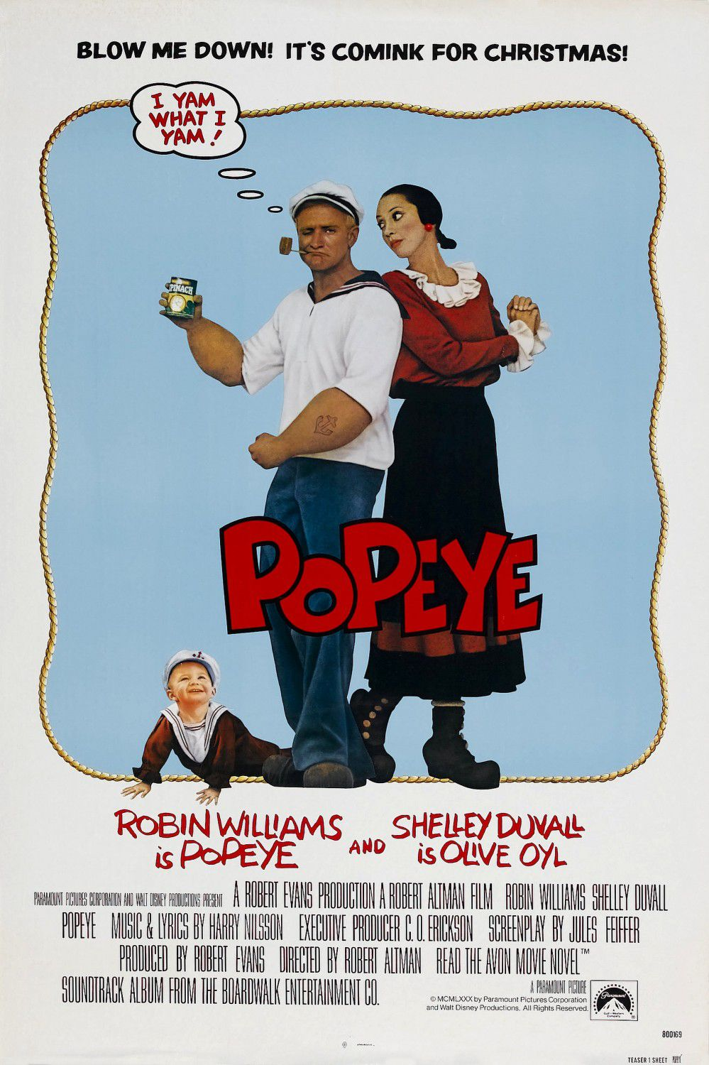 Popeye - Braccio di Ferro (1980) by Robert Altman - Robin Williams