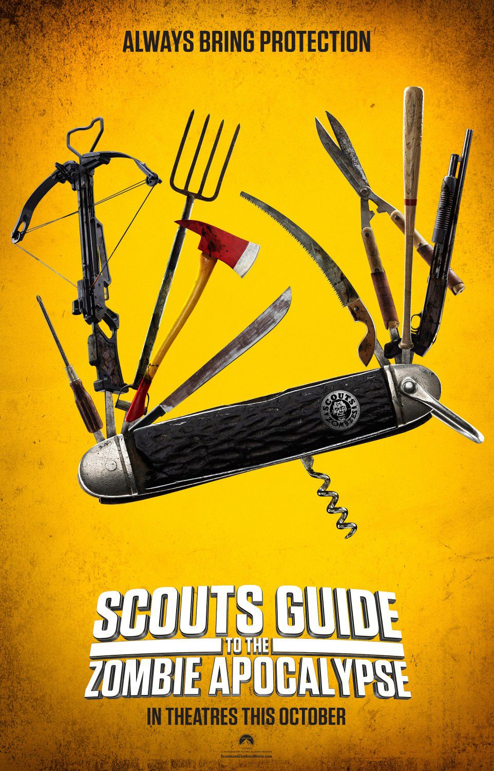 Always bring protection - Scout's Guide to the Zombie Apocalypse - Swiss Army knife