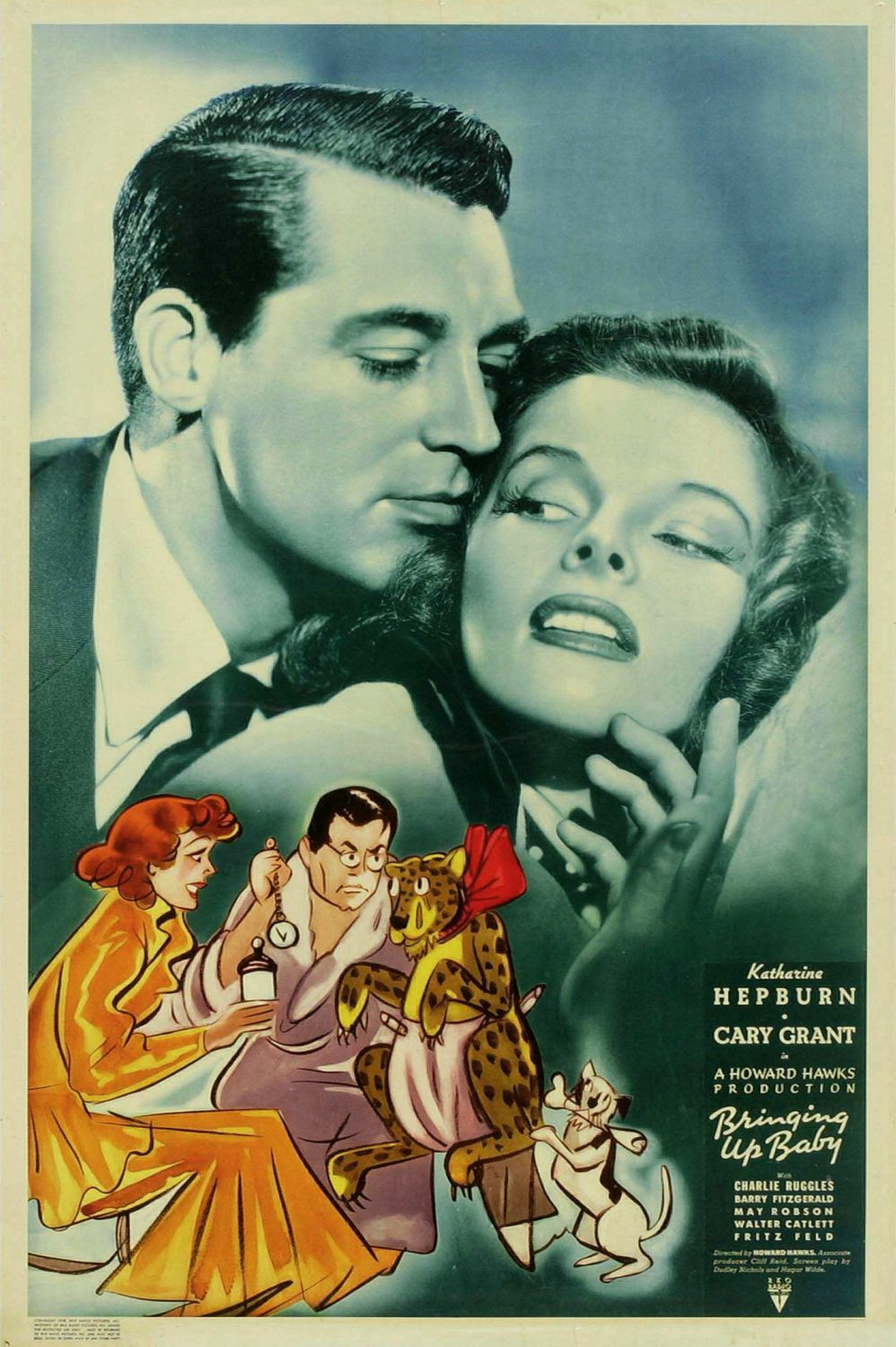 Susanna - Bringing up Baby (1938) - Cast: Katharine Hepburn, Cary Grant, Charles Ruggles, Walter Catlett  - classic film poster