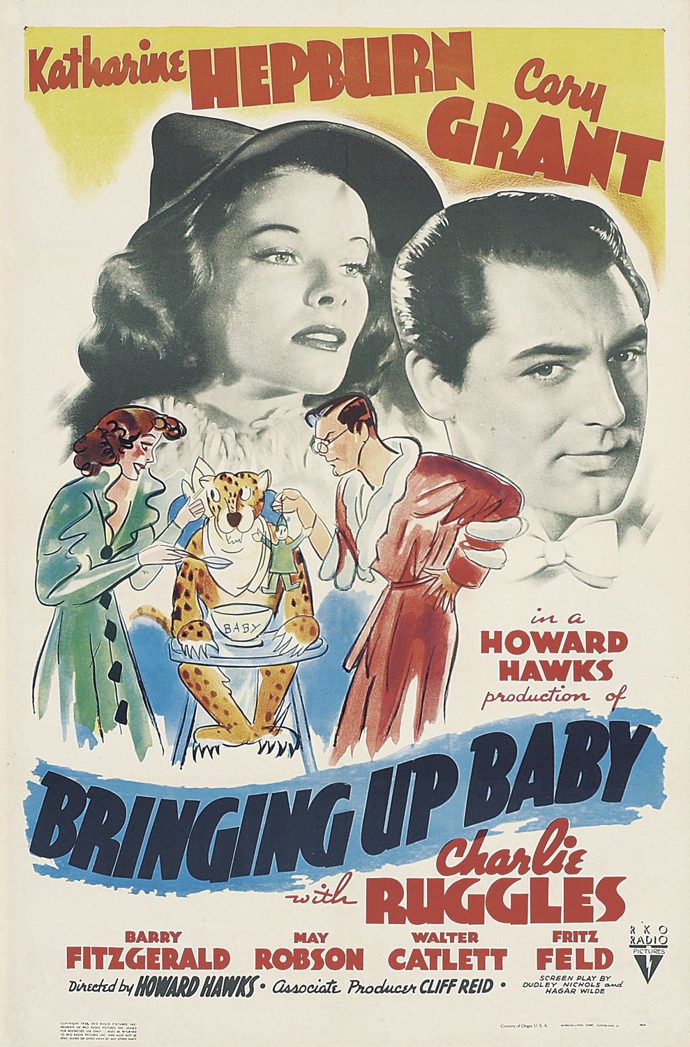 Susanna - Bringing up Baby (1938) - classic film poster