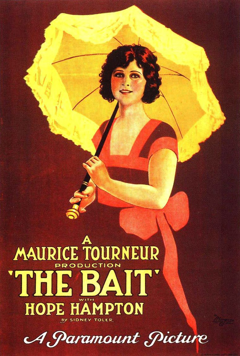 The Bait (1921) - Maurice Tourneur production by Sidney Toler with Hope Hampton - classic cult film poster