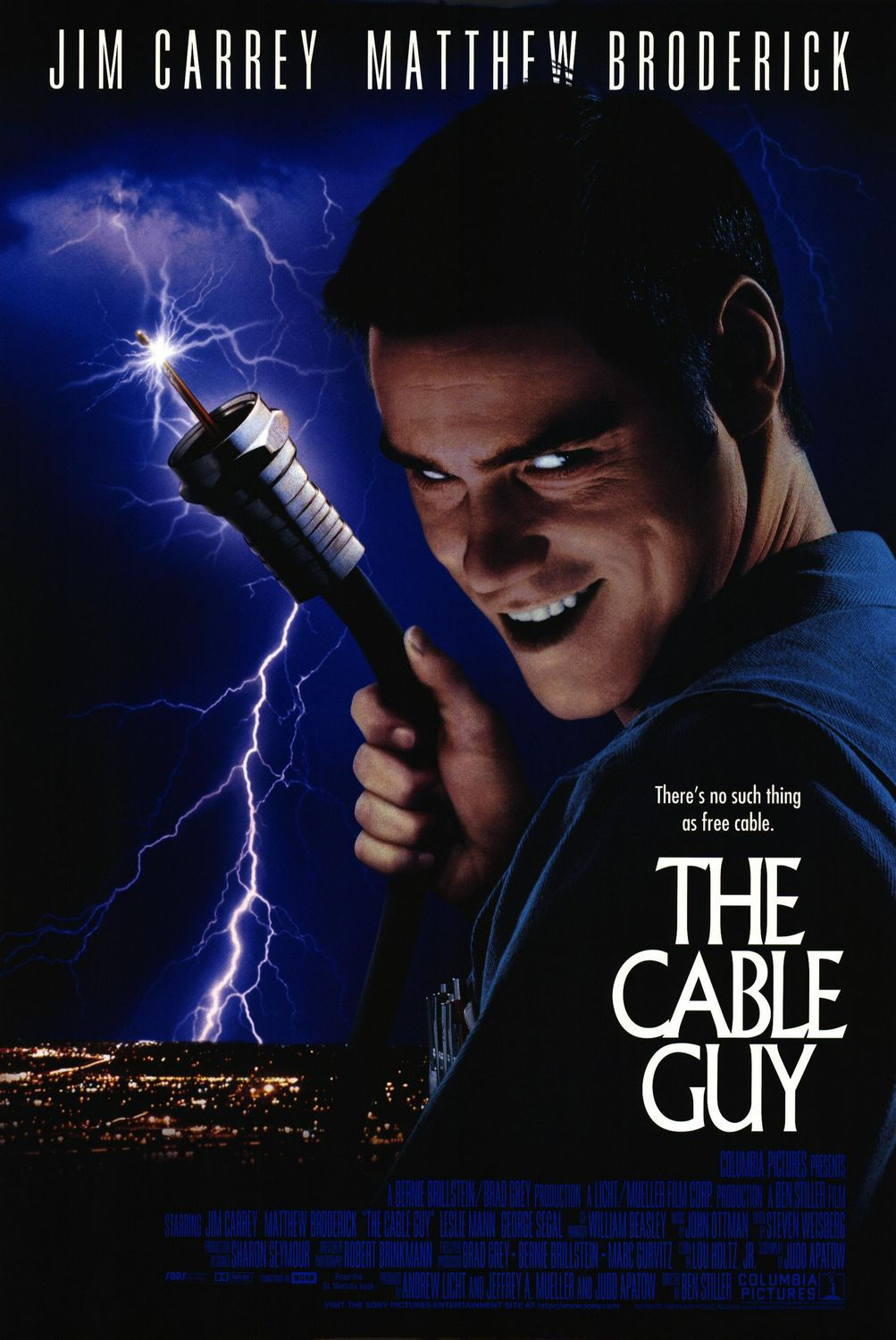 The Cable Guy (1996) - scary comedy film poster