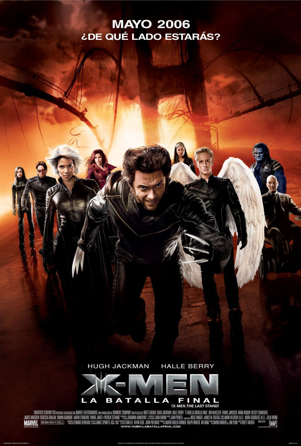 X-Men 3 - Conflitto Finale - the Last Stand (2006) fire poster