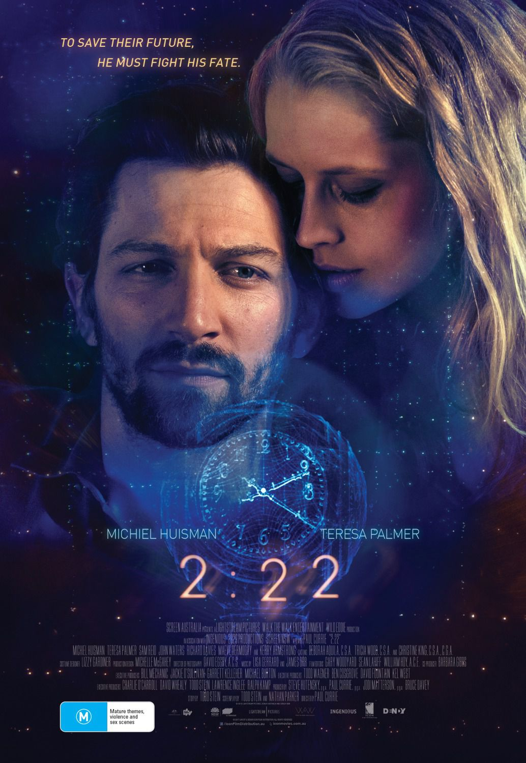 2 22 - two twenty two - Michiel Huisman, Teresa Palmer, Sam Reid, John Waters film poster