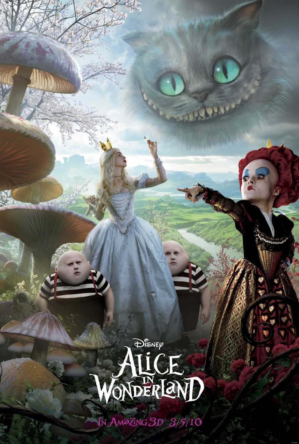Alice in Wonderland - Red Queen and Cheshire Cat