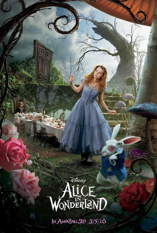 Alice in Wonderland - poster white rabbit