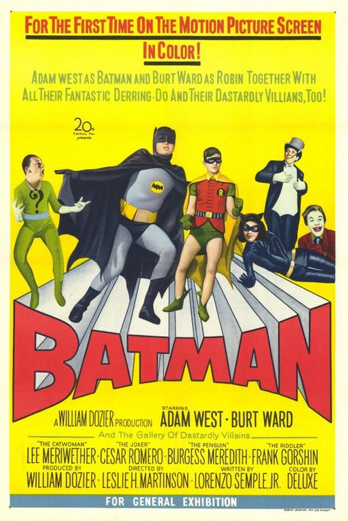 Adam West as Batman, Burt Ward as Robin - Batman classic film 1966