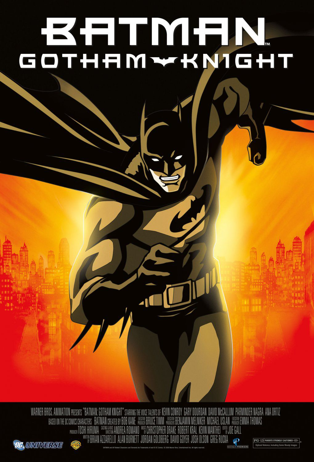 Batman animated - Gotham Knight (2008) - animated film poster
