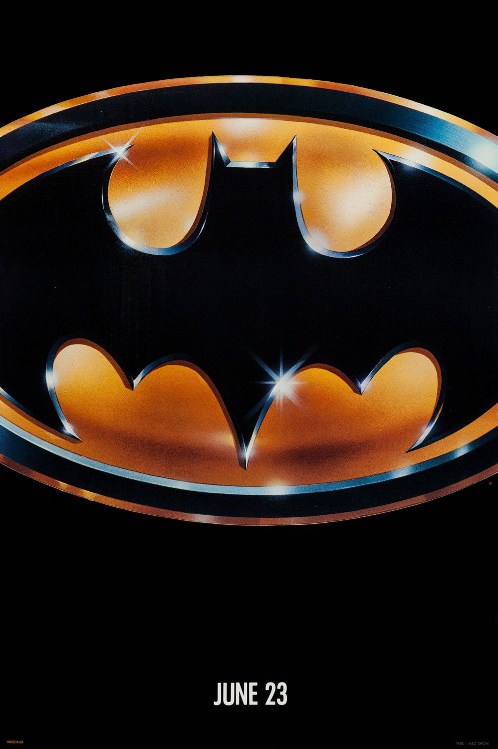 Batman - bat logo film poster 1989