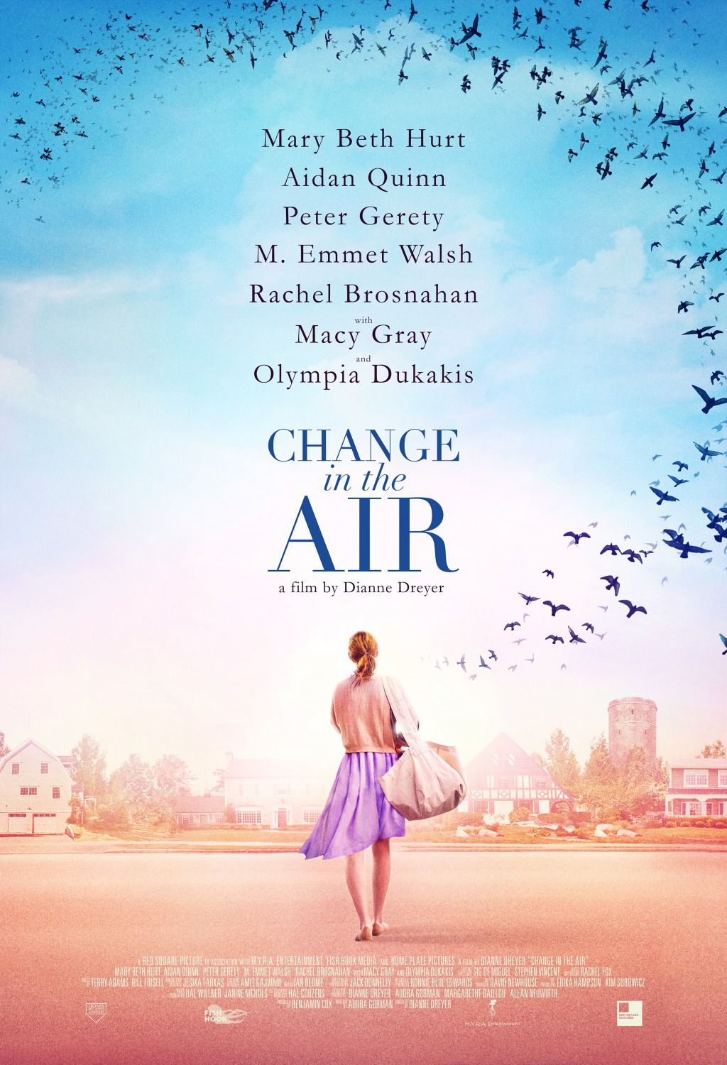 Change in the Air by Dianne Dreyer - Cast: Mary Beth Hurt, Aidan Quinn, Peter Gerety, M Emmet Walsh, Rachel Brosnahan, Macy Gray, Olympia Dukakis - film poster