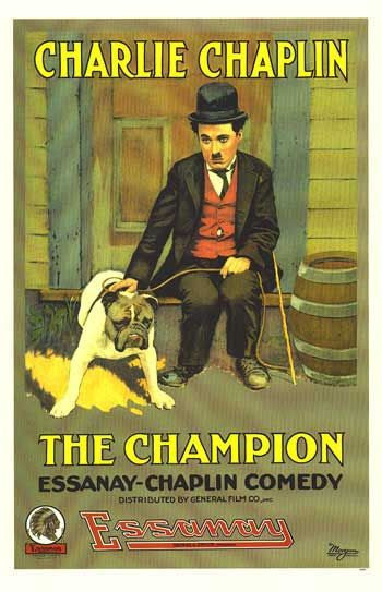 Charlie Chaplin 1915 The Champion - Il Campione - Cast: Charles Chaplin, Edna Purviance, Ernest Van Pelt, Lloyd Bacon - old cult film poster