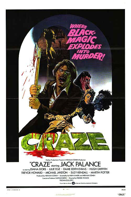 Craze (1974) - Horror Thriller film poster