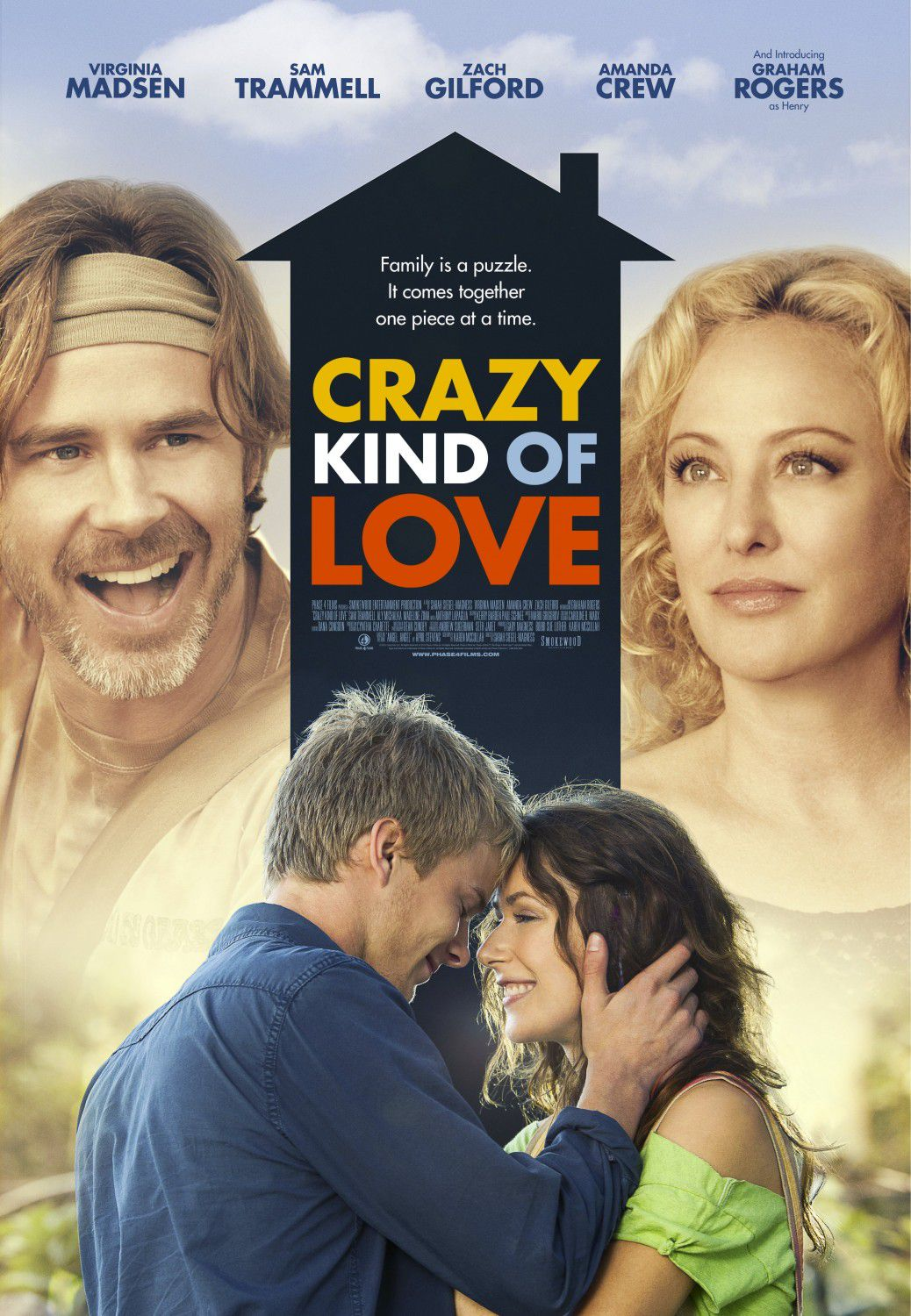 Crazy kind of Love - Cast: Virginia Madsen, Sam Trammell, Graham Rogers, Amanda Crew, Zach Gilford - film poster
