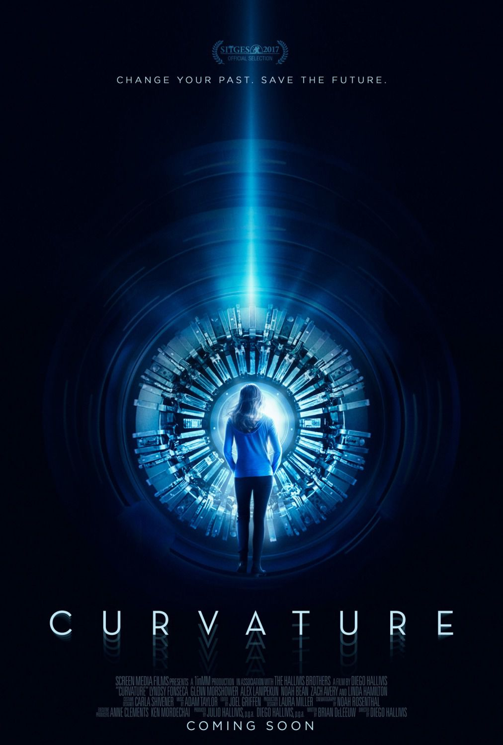 Curvature - Change your past Save the future - scifi film poster