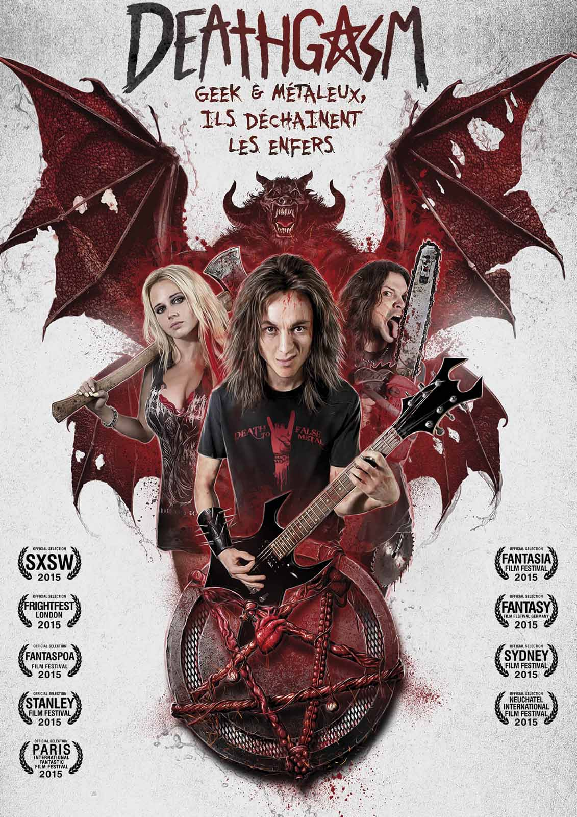 Deathgasm horror film demon poster