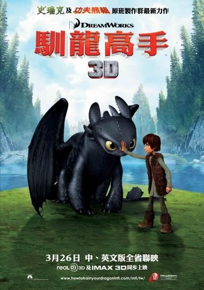 Dragon Trainer - How to train your Dragon - animated film poster