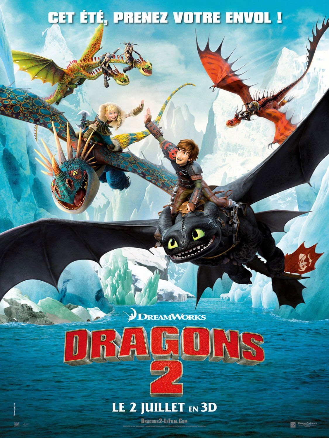 Dragon Trainer 2 - How to train your Dragon continue adventure - film poster