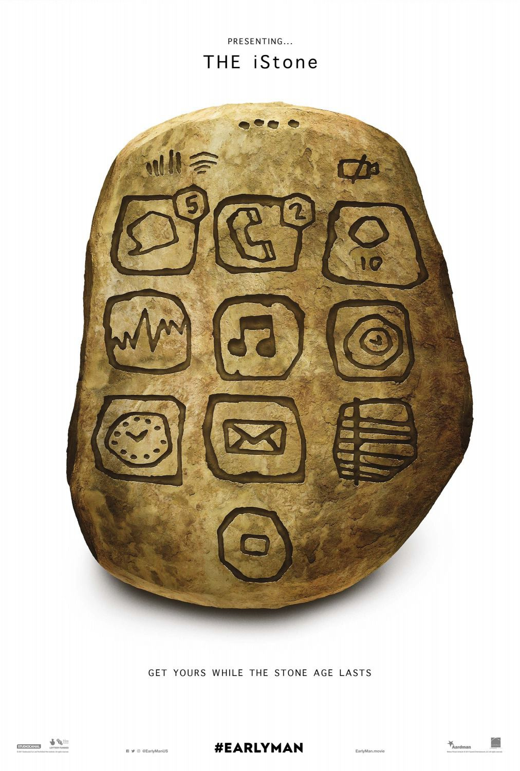 Stone Age monolith pietro rock message cell phone