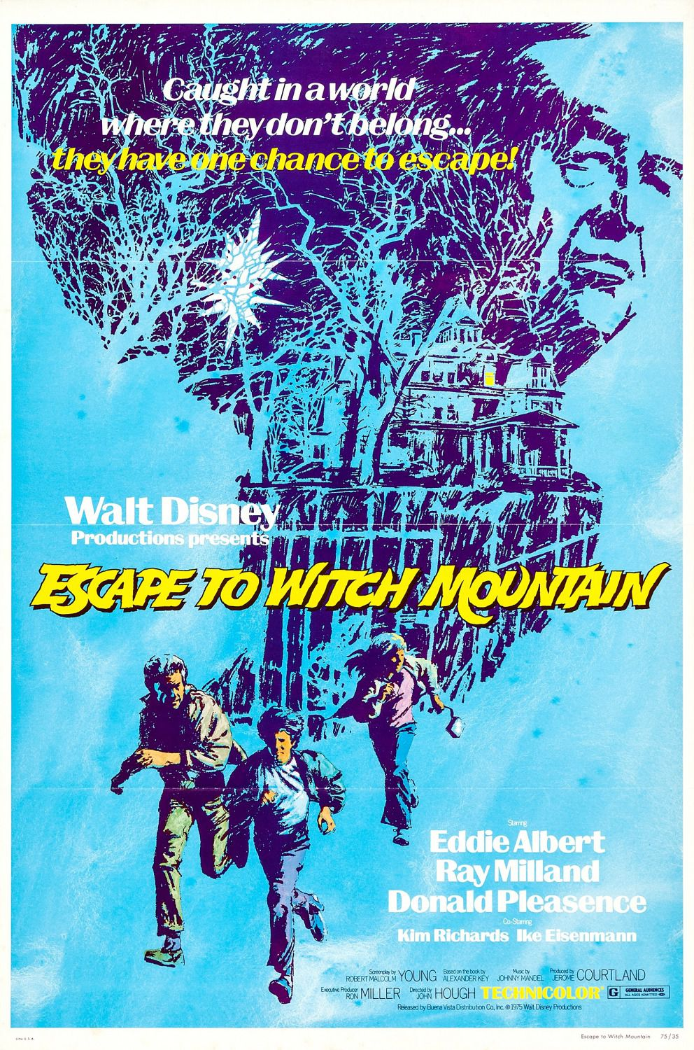 Escape to Witch Mountain (1975) - Disney scifi film poster