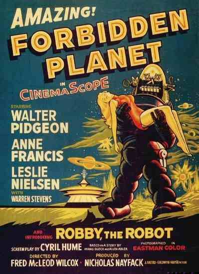 Forbidden Planet - Pianeta Proibito - classic cult scifi film poster 1956