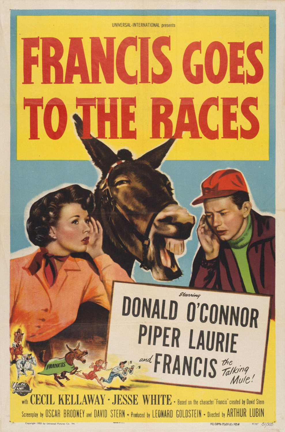 Francis goes to the Races - cult film poster 1951