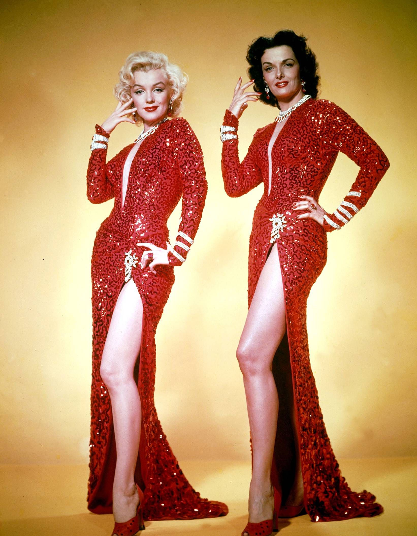 Red Dress - Jane Russell Marilyn Monroe