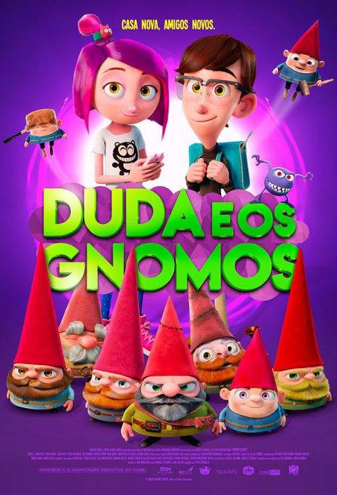 Gnome Alone - Duda e os Gnomos - animated cartoon film poster