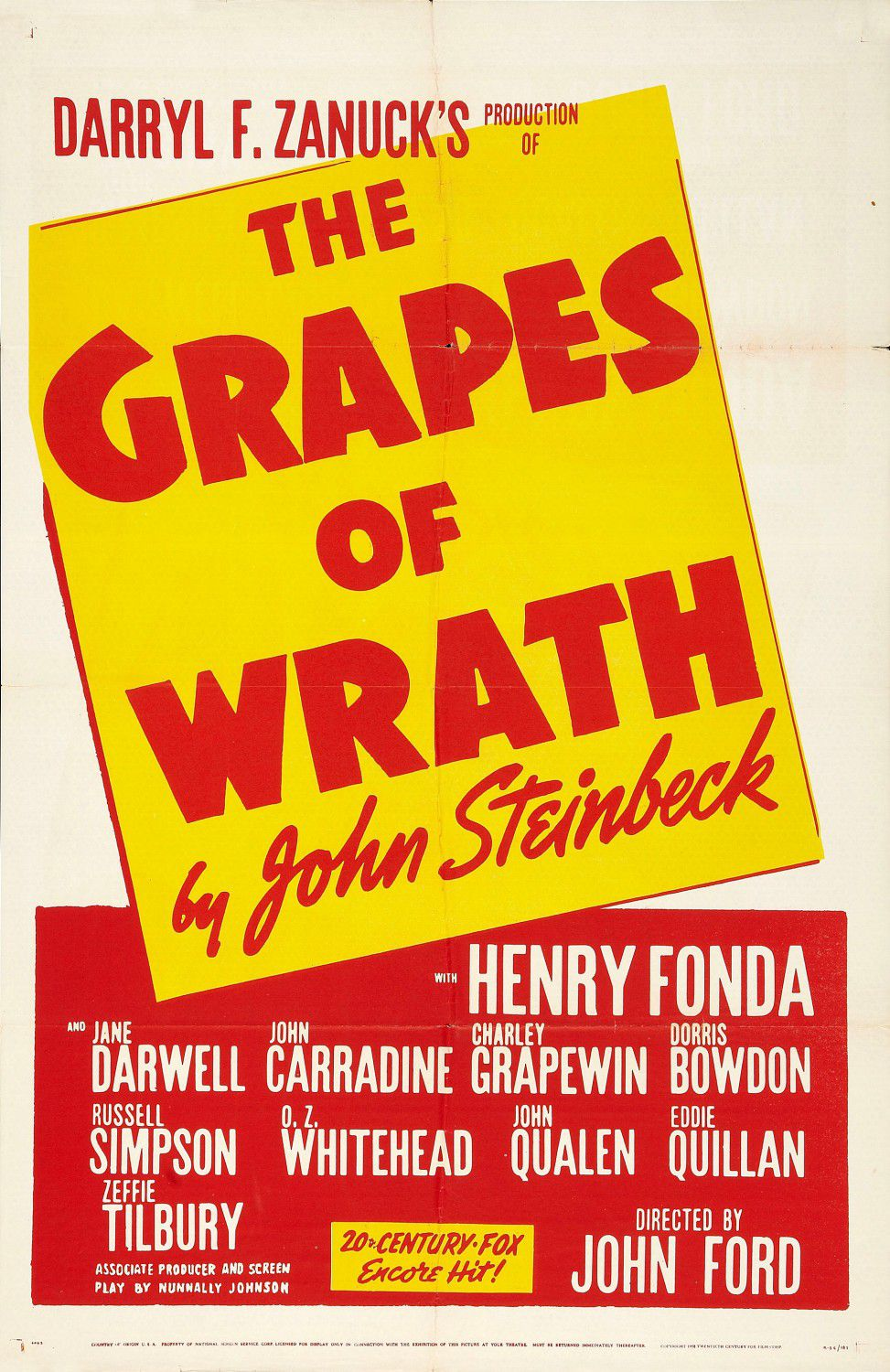 Grapes of wrath - film poster