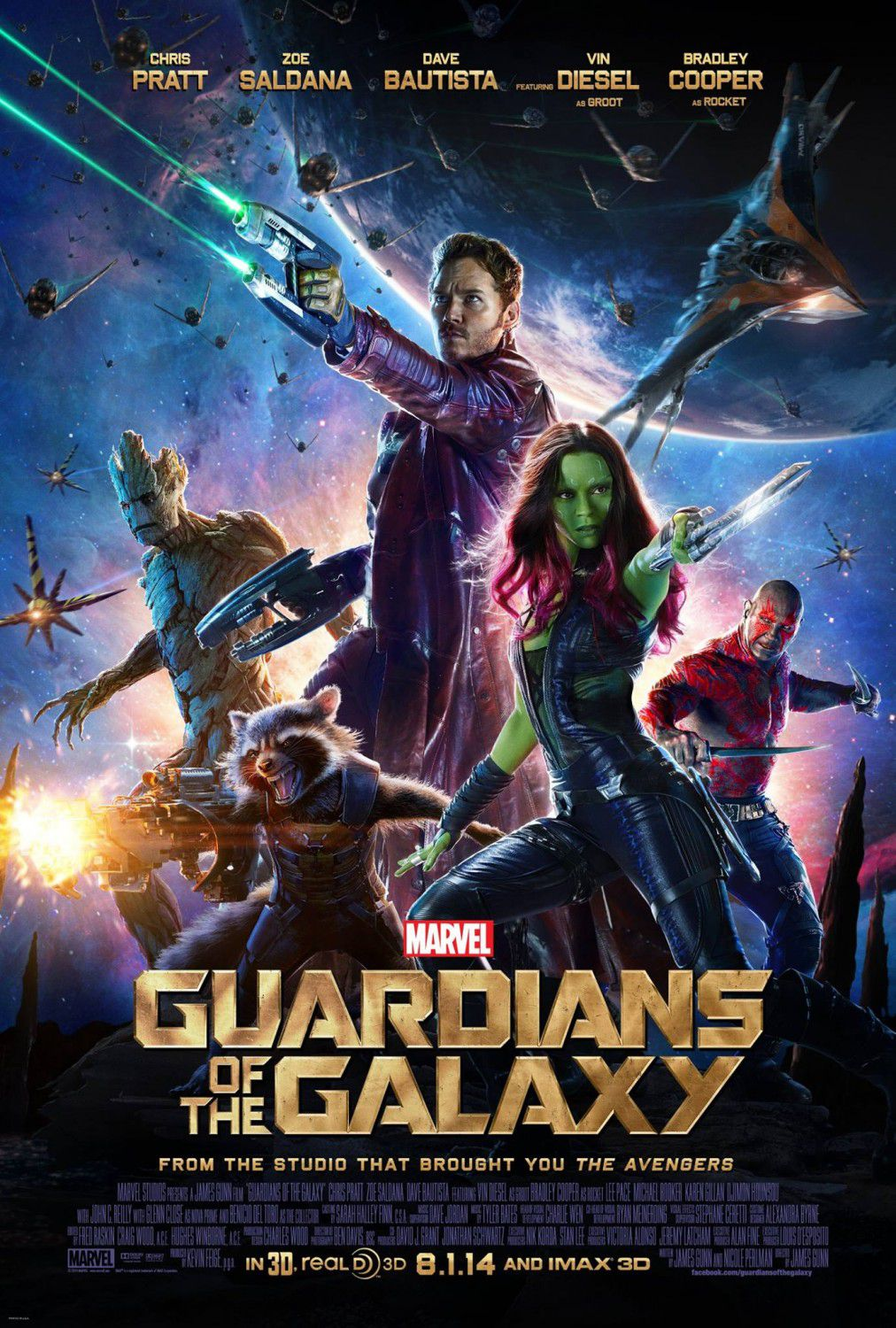 I Guardiani della Galassia (Guardians of the Galaxy) - poster