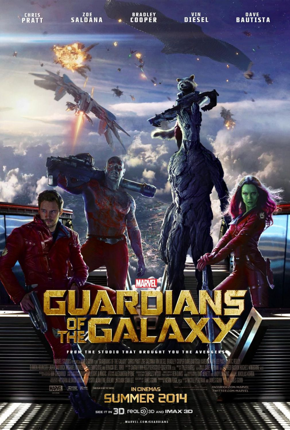 I Guardiani della Galassia (Guardians of the Galaxy)  - super poster