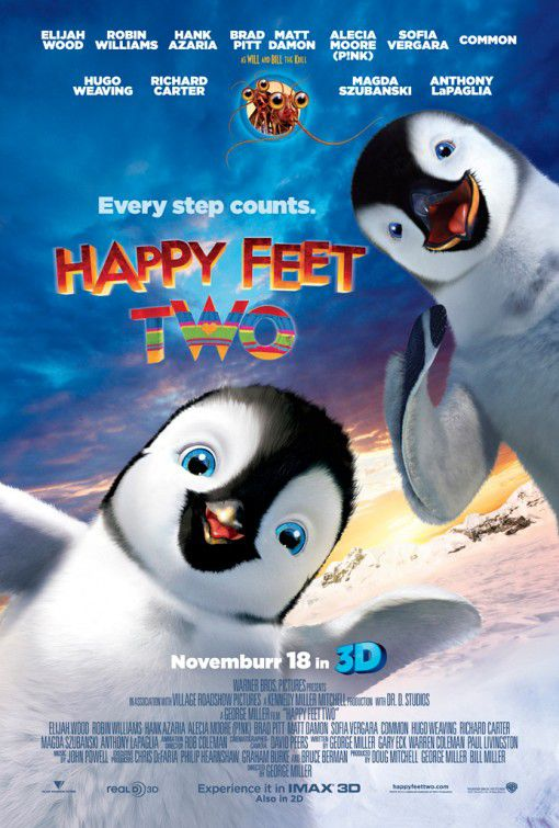 Happy Feet 2 - film poster - penguin