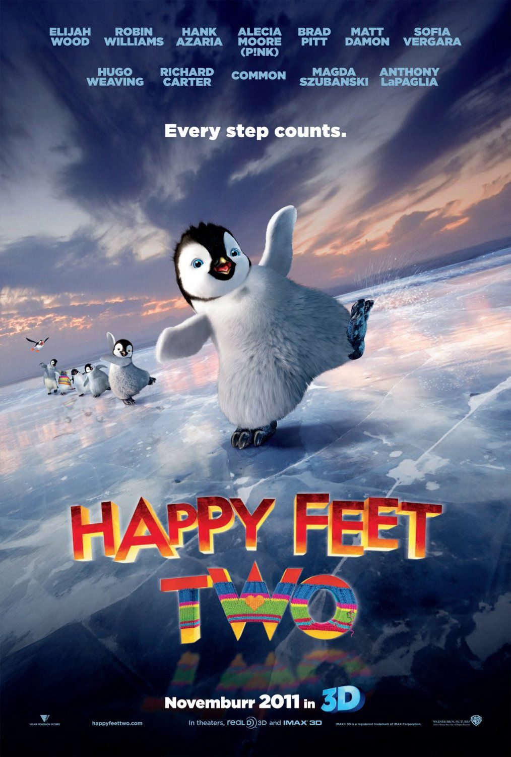Happy Feet 2 - film poster - dancing penguin