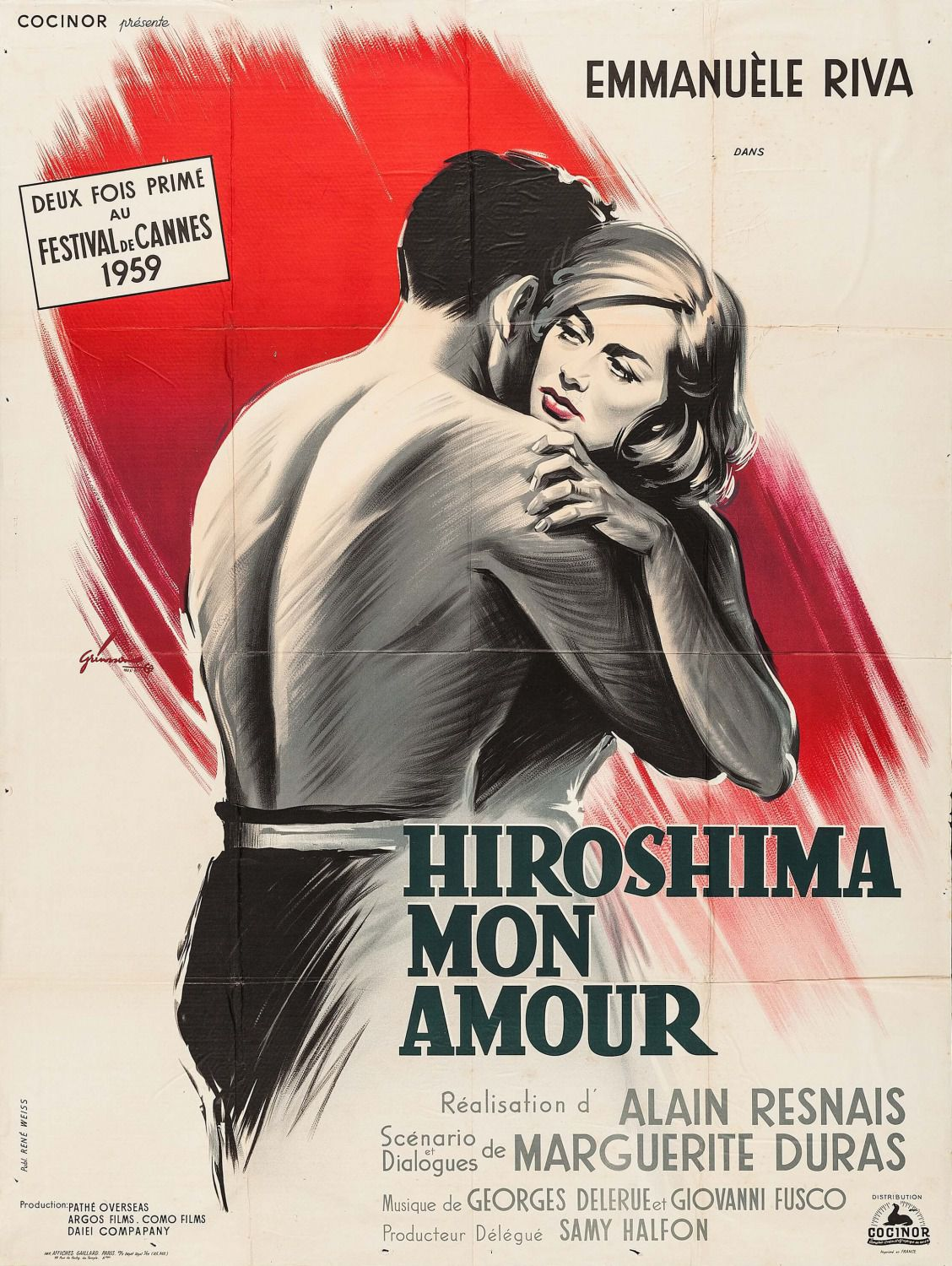 Hiroshima mon Amour (1959) by Alain Resnais - film poster