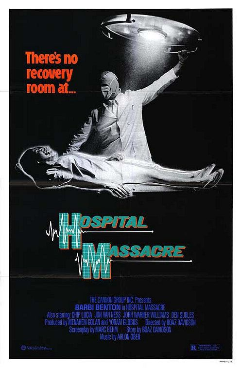 Hospital massacre - horror film poster thriller