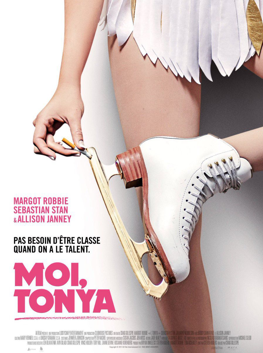 I Tonya - Io Tonya - Moi Tonya - Margot Robbie, Allison Janney, Sebastian Stan, Julianne Nicholson - skating and smoking poster
