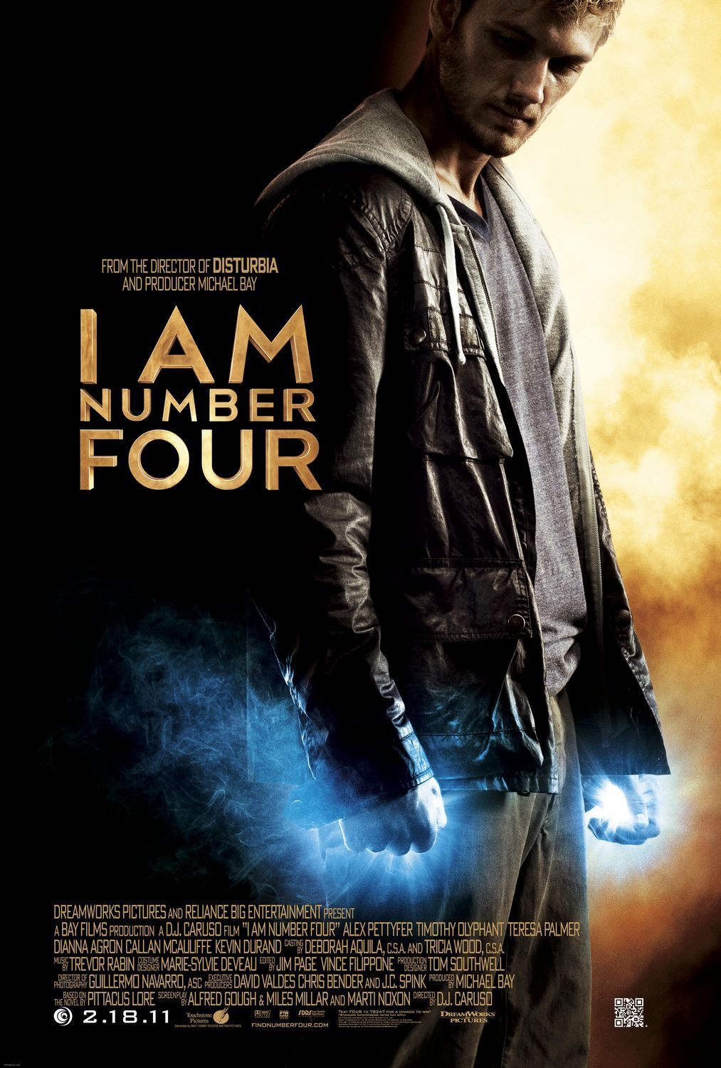 I am Number Four - Io sono il Numero 4 - fantascienza science fiction film poster power light