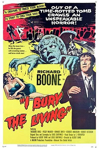 I bury the living - film poster