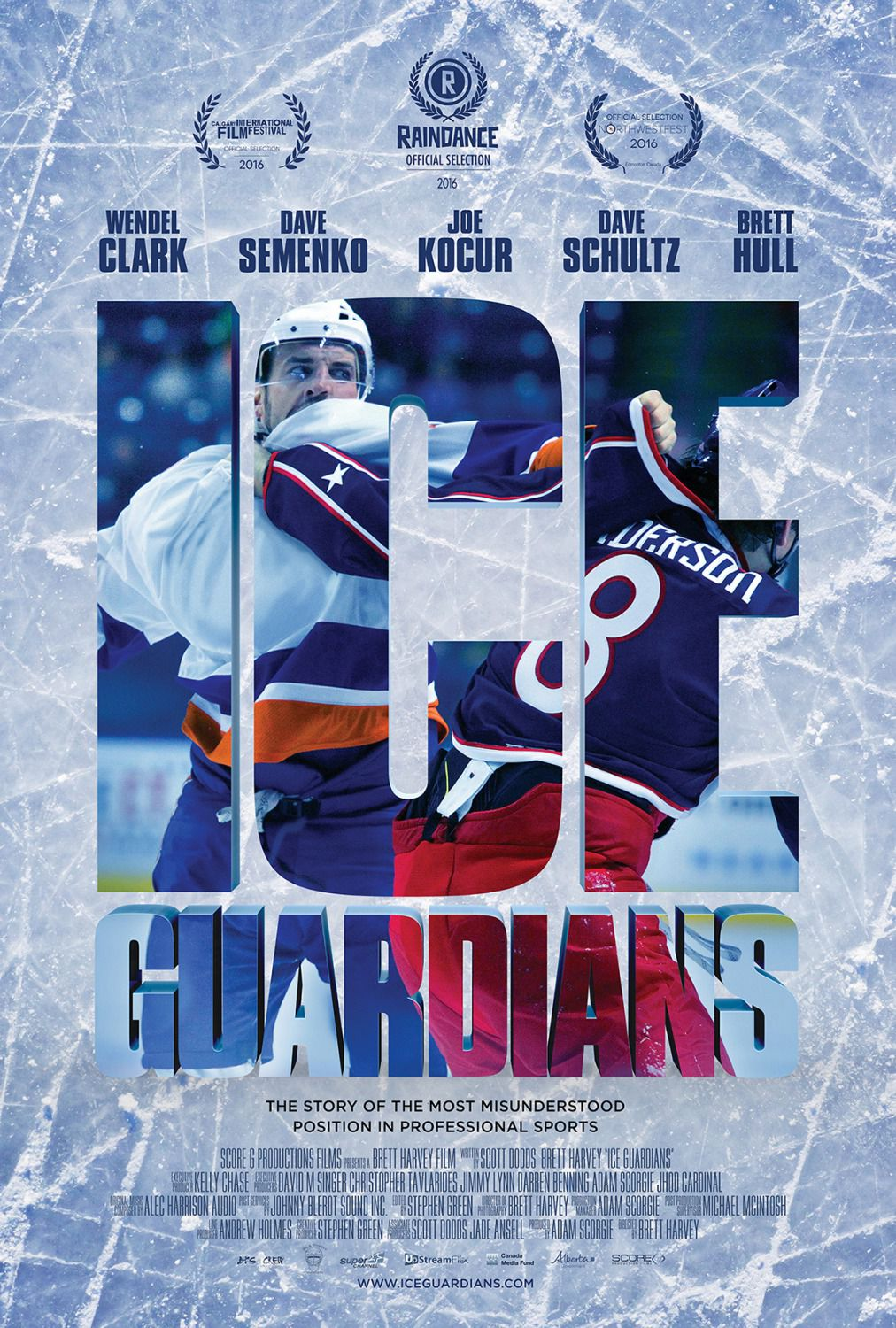 Ice Guardians sport hockey film poster
