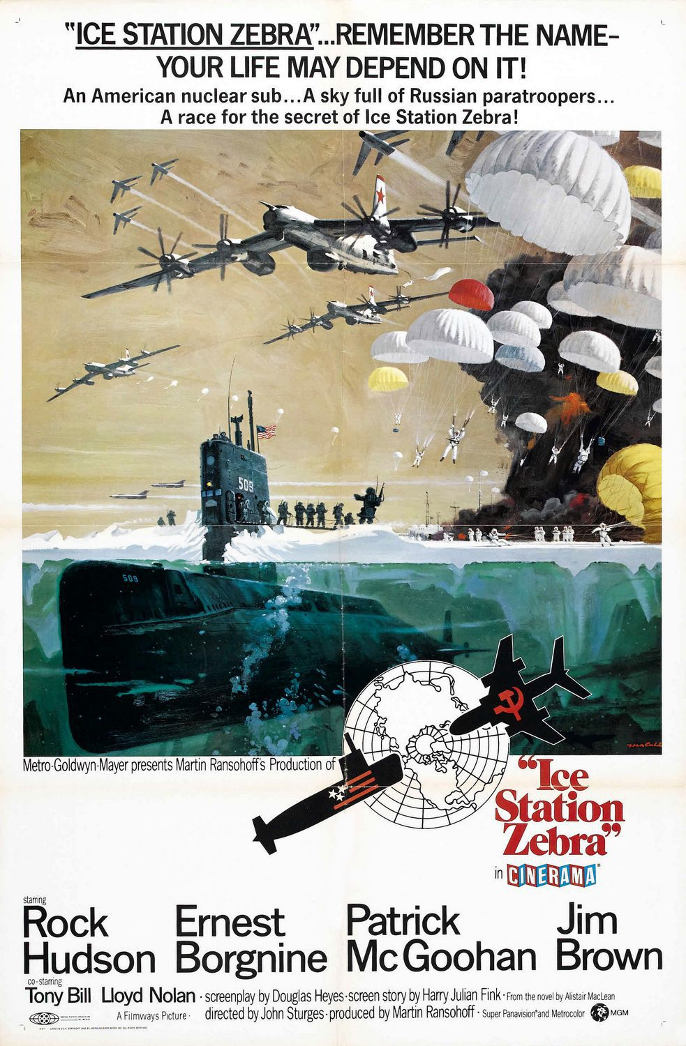 Base Antartica Zebra - Ice Station Zebra - film poster