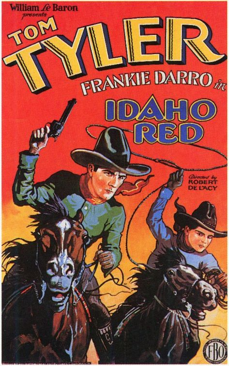 Idaho Red (1929) - western classic cult old film poster