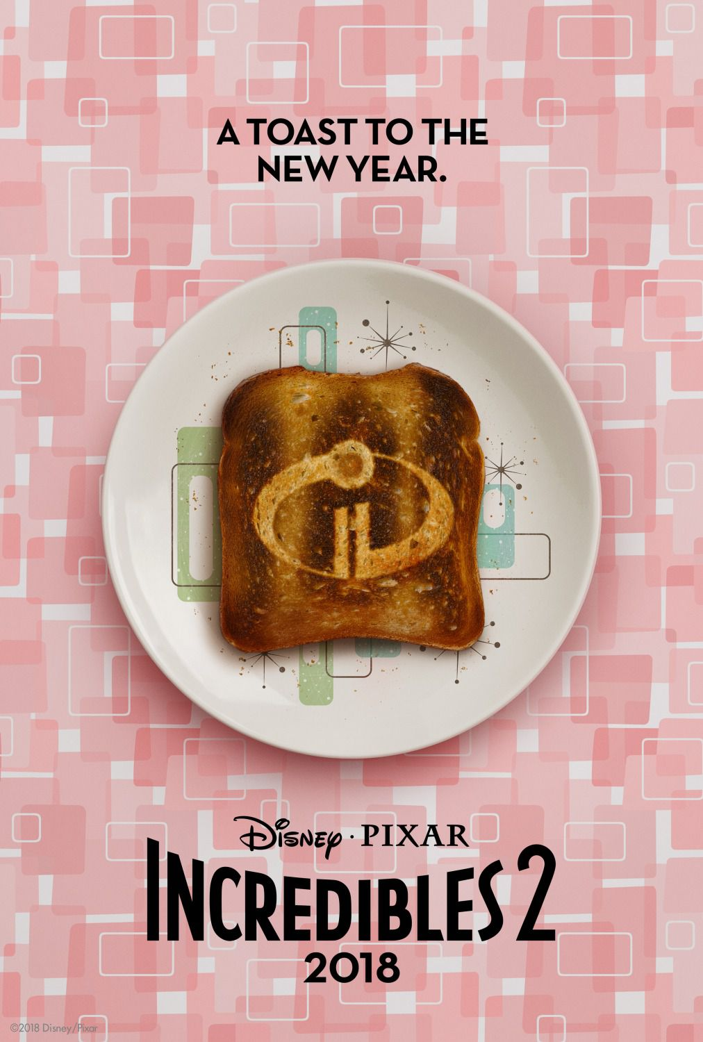 Incredibili 2 - Incredibles 2 - Disney Pixar 2018 - animated film poster - toast