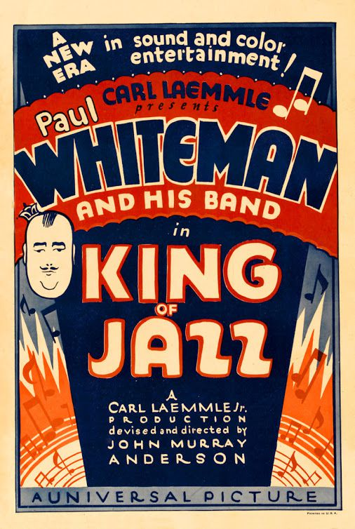 King of Jazz - Il Re del Jazz - first color film 1930 - cult classic old movie cine poster