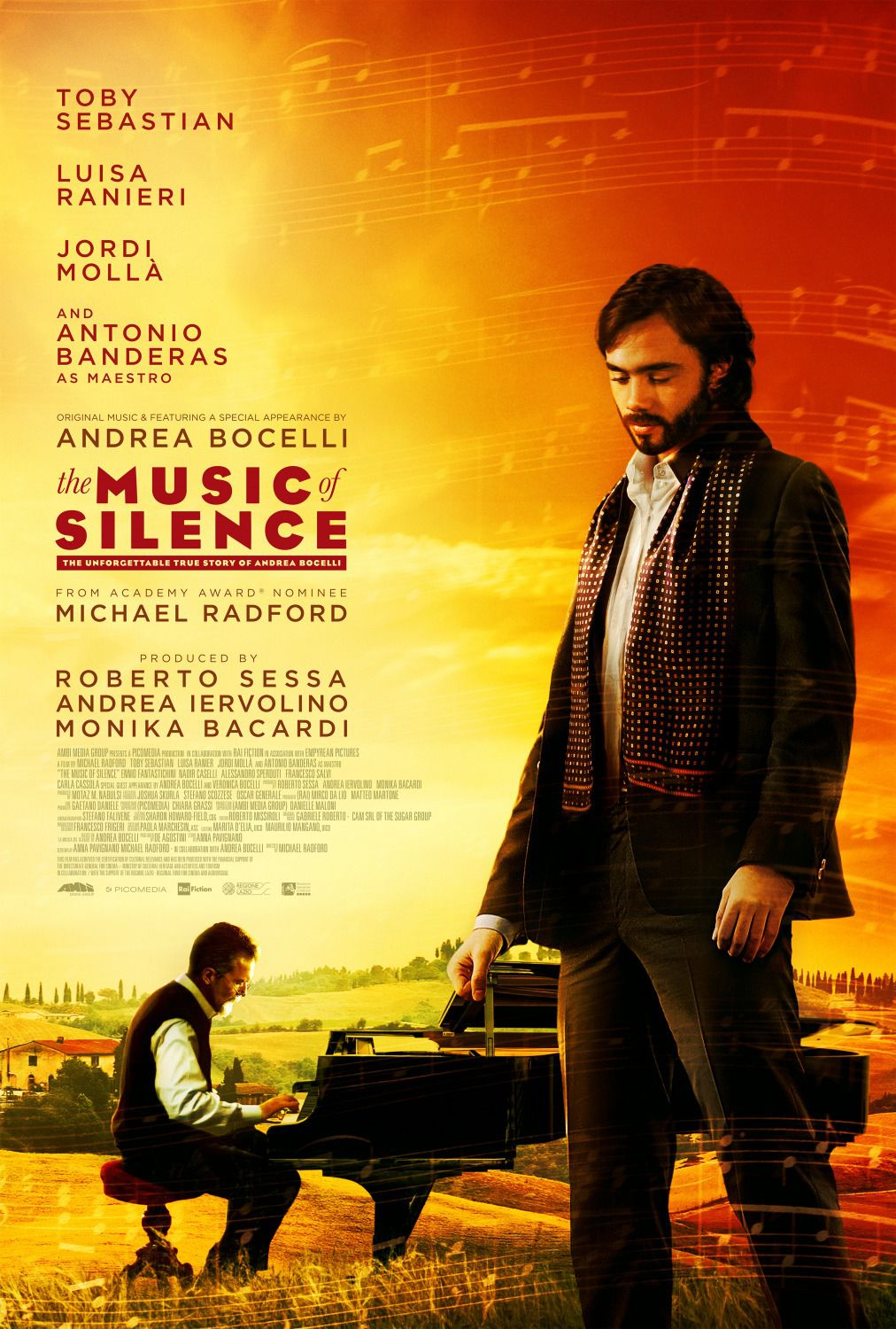 The Music of Silence - La Musica del Silenzio - Bocelli life film poster