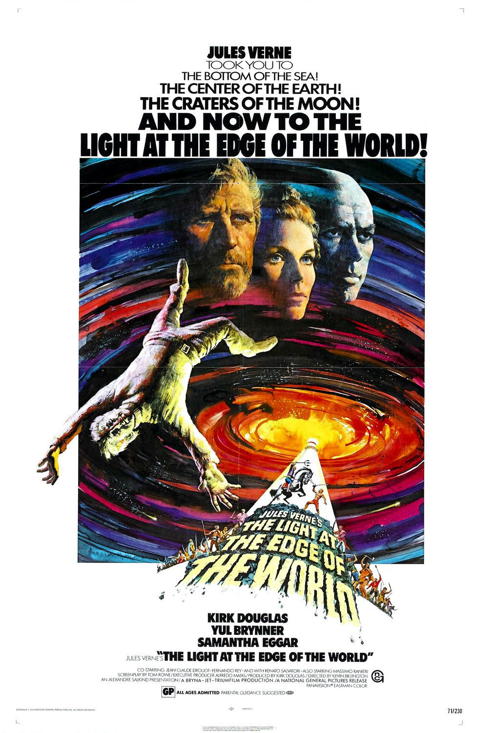 Light at the edge of the World - Il Faro in capo al Mondo - classic cult film poster