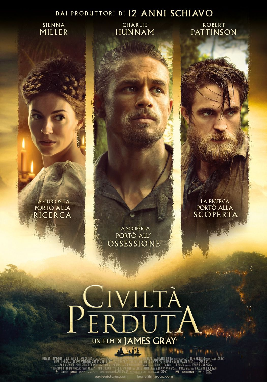 Lost City of Z - Civiltà Perduta - by James Gray - Charlie Hunnam, Robert Pattinson, Sienna Miller - film poster