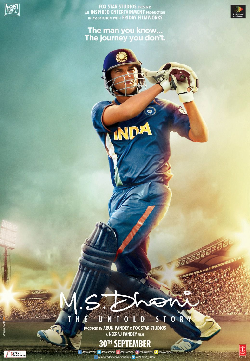 M.S. Dhoni the untold story - film poster