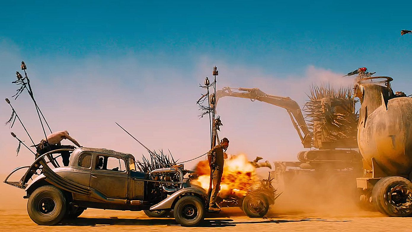 Battle cars in Desert